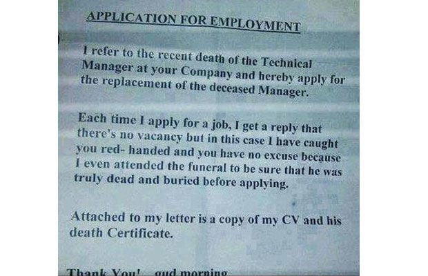 11 Extremely Funny Cover Letters That People Actually Sent - Online