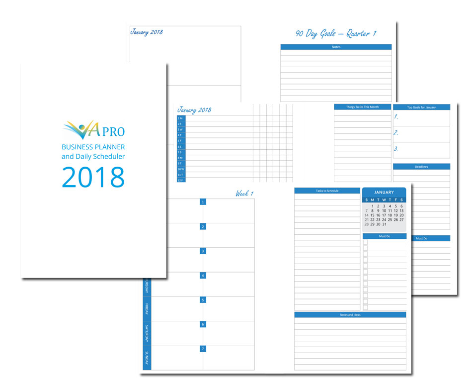 Business Planner and Daily Scheduler 2018 VA Pro Magazine
