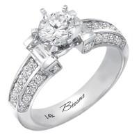 Variety Gem Co., Inc. - 14K White Gold Engagement Ring (H ...