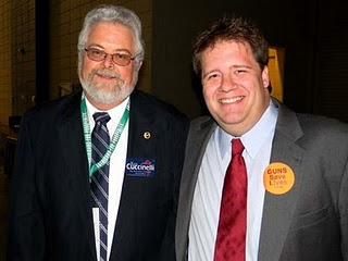 Virginia Right! blogger Tom White with Newest Teabagger - Not Larry Sabato's Ben Tribbett