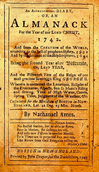 First Annual Almanac Published - Archiving Early America