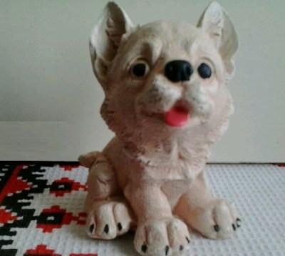 щенок белый 9 см
