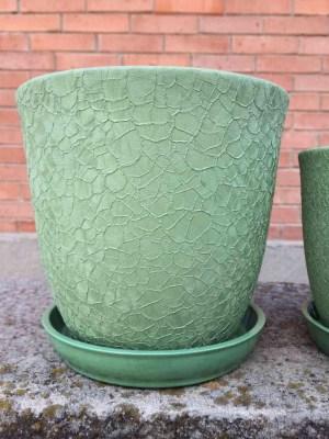 цветочный горшок Глория шелкография зеленый