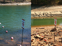 Drought Lake Lanier - compare