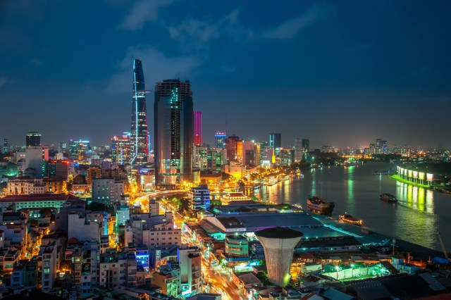 Ho Chi Minh City skyline. Credit to Heathrow.com