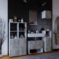 "VCM Gruppe | VCM Badmbel Komplett Set 5tlg ""Intola ll ..."