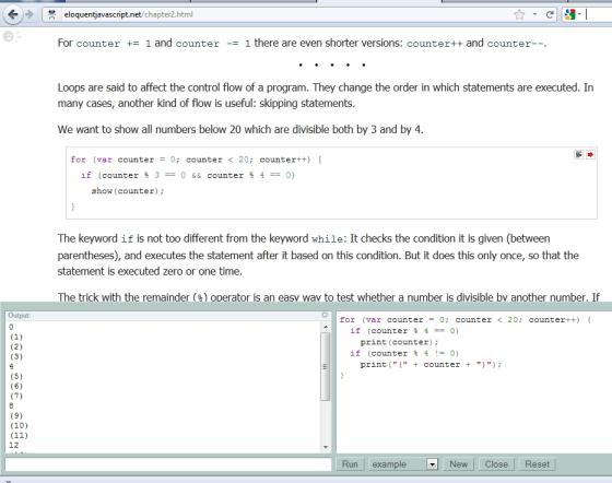 Eloquent JavaScript Online Environment
