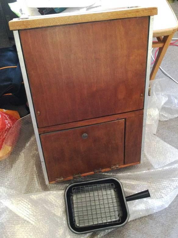 cargo door mounted Canterbury Pitt cooker storage unit