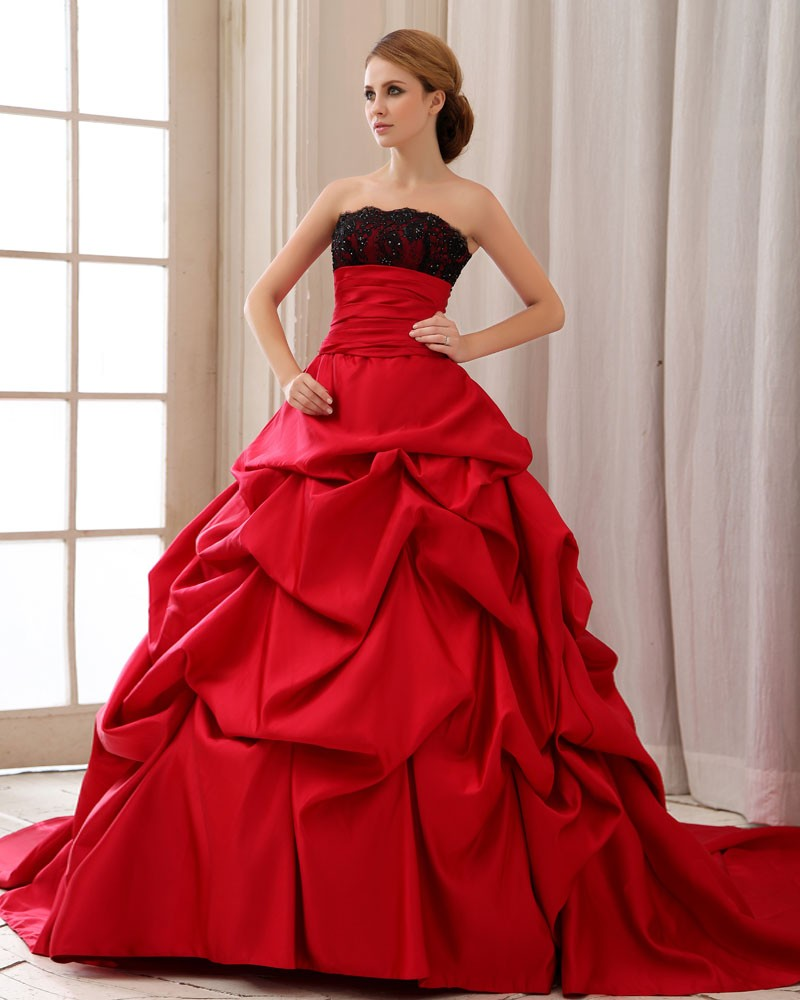 wedding dresses with red Wedding dress for older and over weight women Trends For Men And