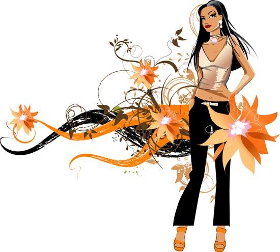 Fashion girls vector design