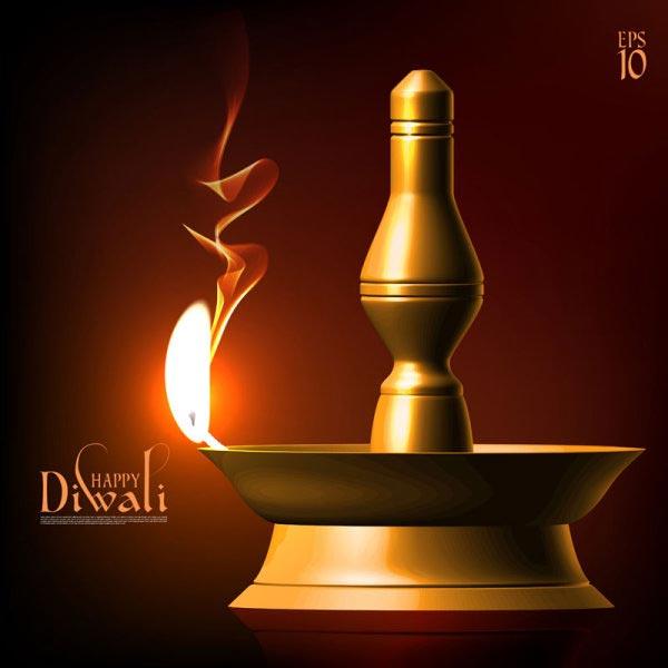 Animated Diwali Diya Wallpapers Happy Diwali Vector Backgrounds