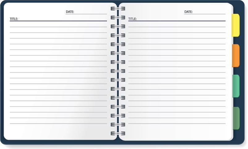 Paper notebooks vector design - notebook paper download
