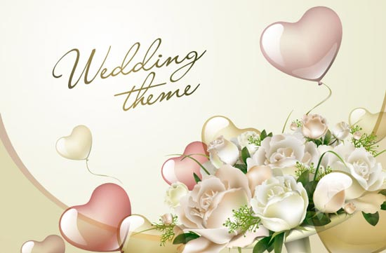Wedding template vectors - wedding template
