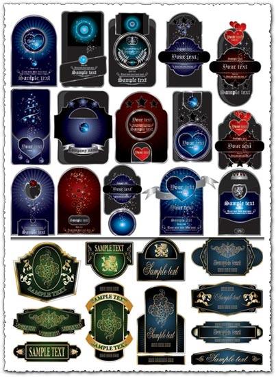 Bottle labels vectors design - free wine label design