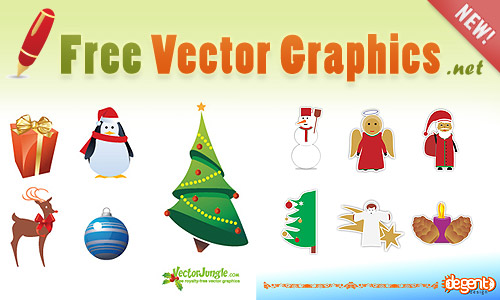 FREE Christmas Vectors at New Launched Website! - Illustrator