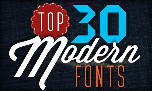 Top 30 Modern Fonts - Illustrator Tutorials  Tips - modern logo fonts