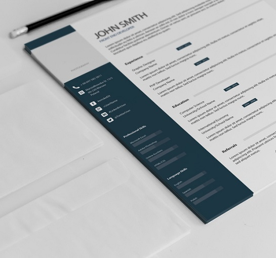 4 Free Vector  PSD Resume Templates - classic resume format