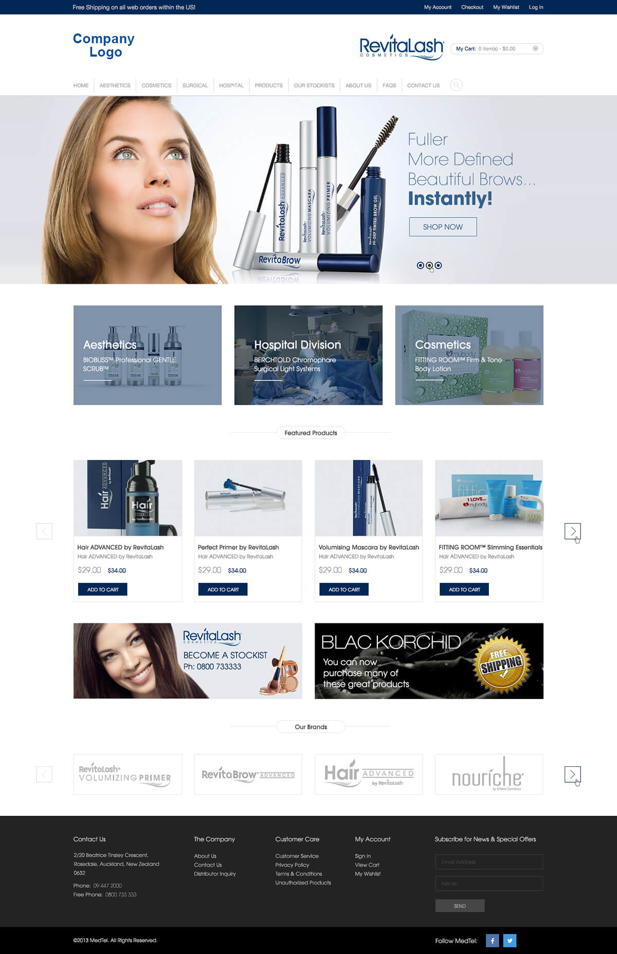 Cosmetics and Beauty Website Templates