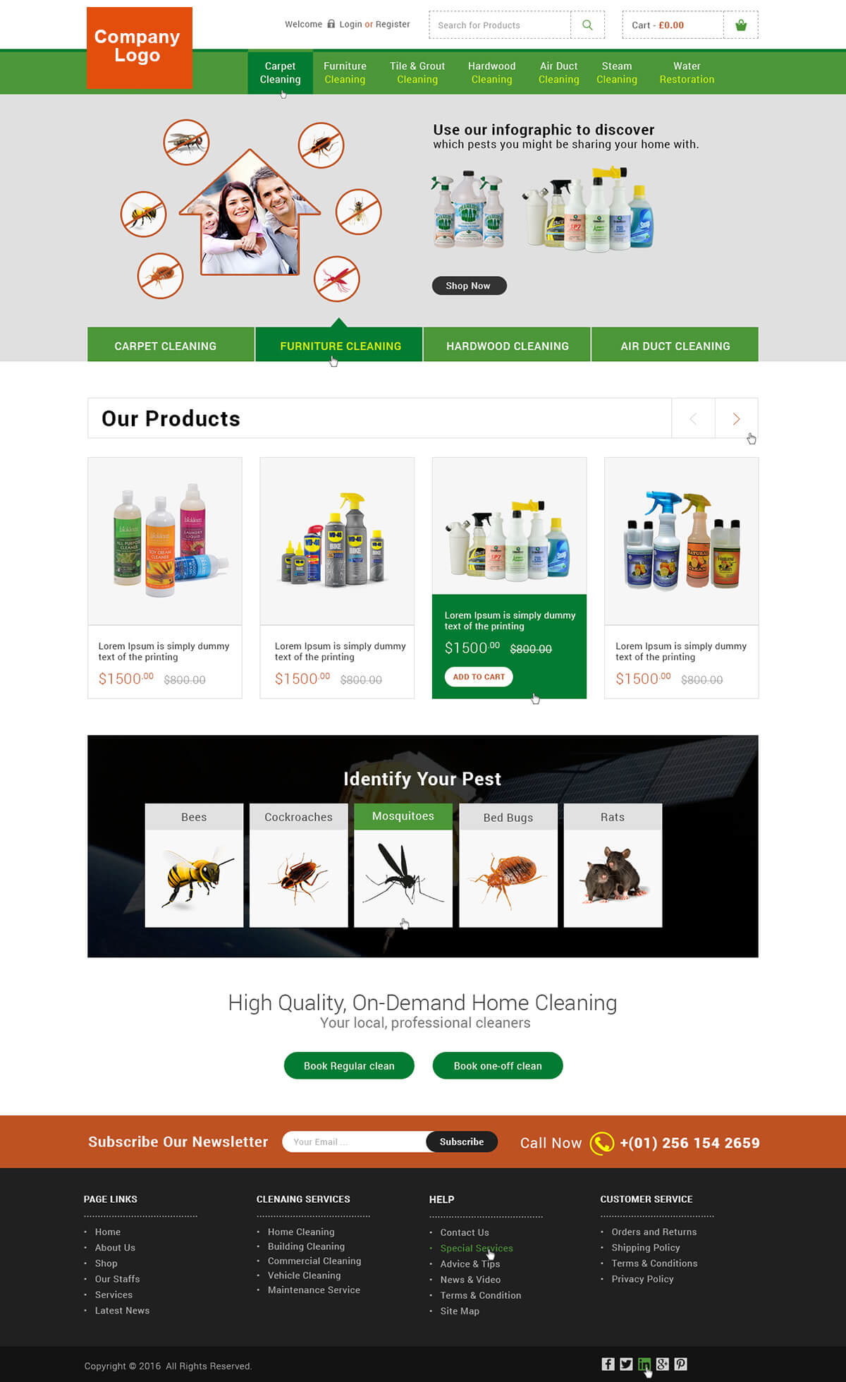 Pest Control Service Website Template