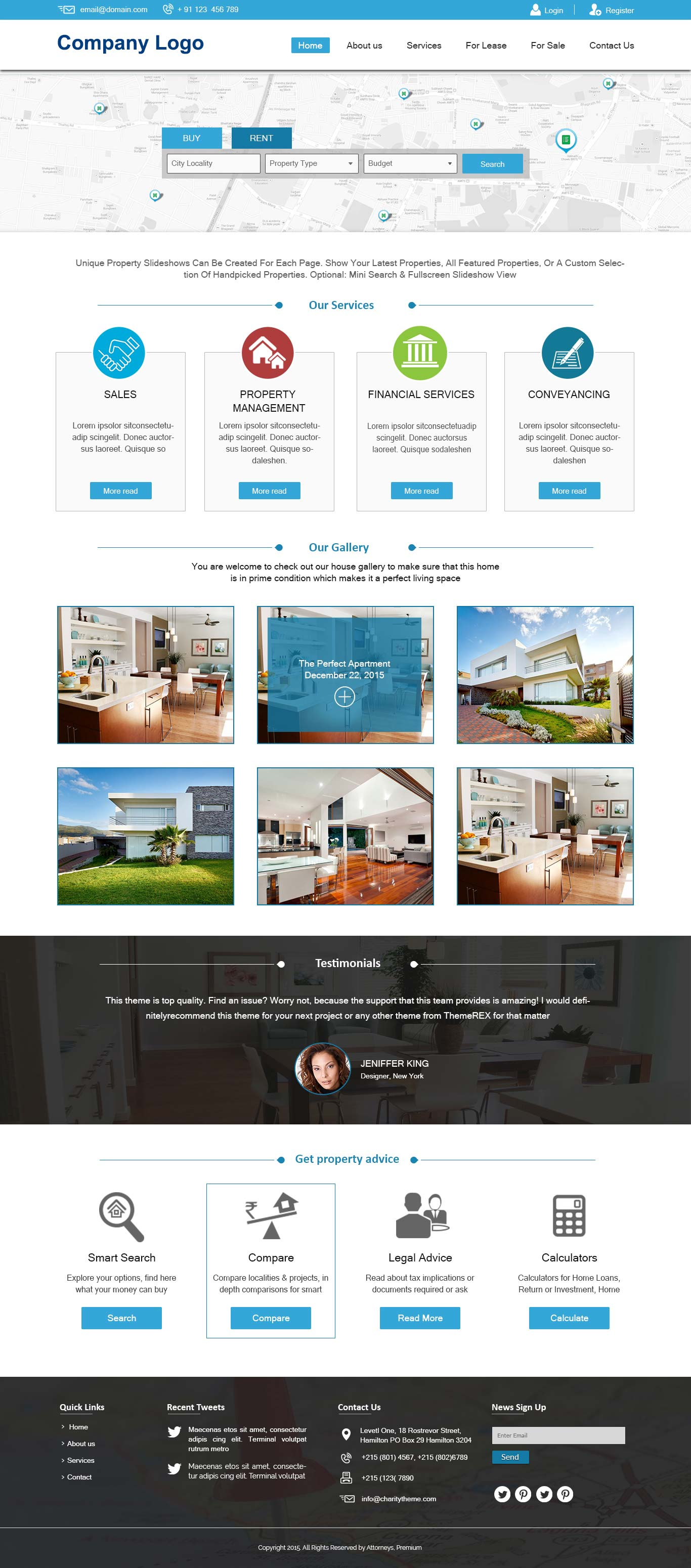 Real Estate Website Template Ved Web Services