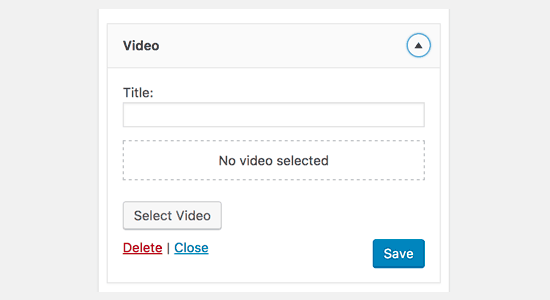 Video Widget for WordPress