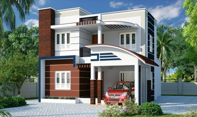 1650 Sq Ft Contemporary 3 BHK Home Designs - Veeduonline