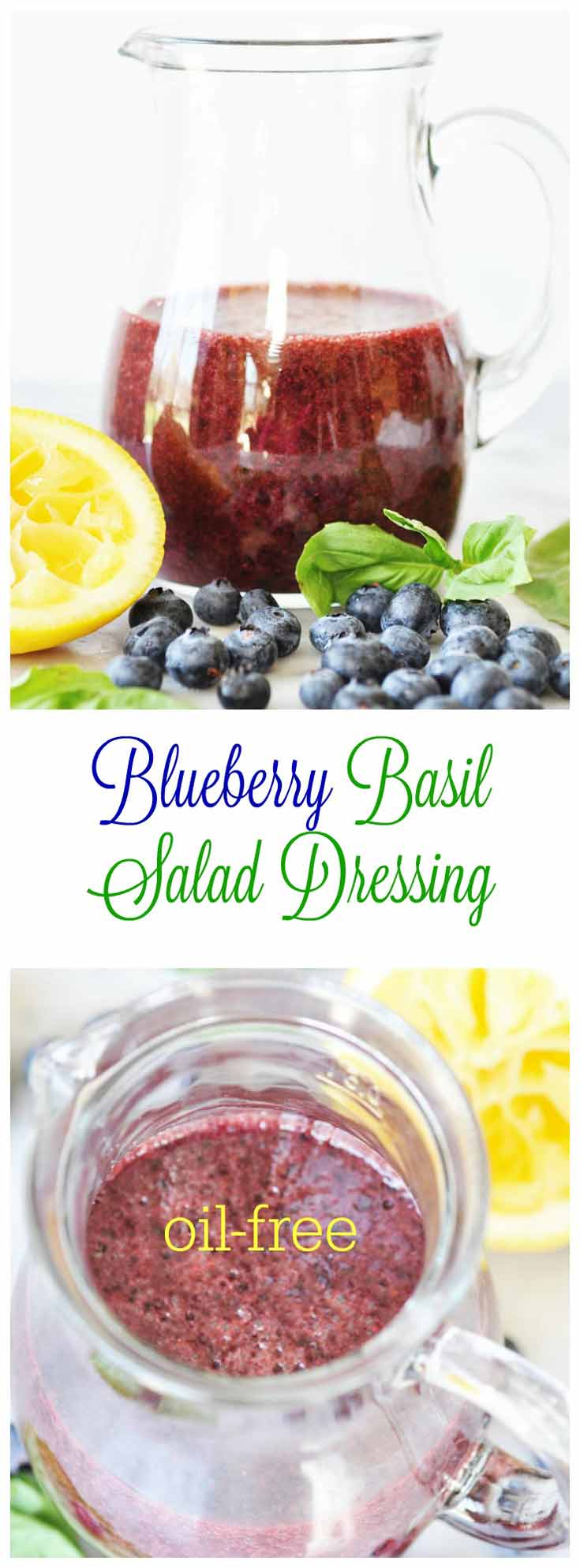 Blueberry Basil Salad Dressing - Veganosity