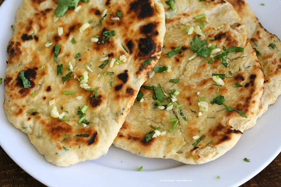 Herb Garlic Flatbread Recipe No Yeast - Vegan Richa