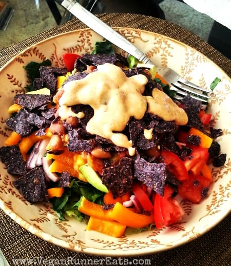 Vegan Chili Taco Salad recipe with Homemade Chipotle ...