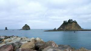 Sea stacks as seen off the First Beach in La Push, WA