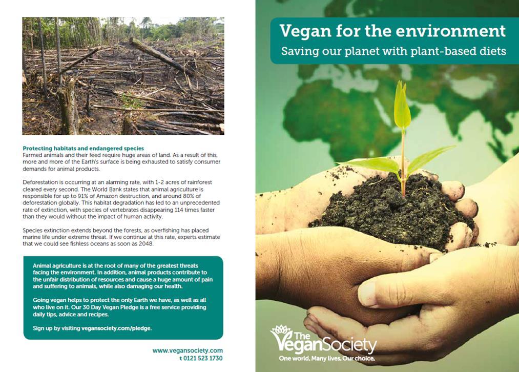 Leaflets The Vegan Society