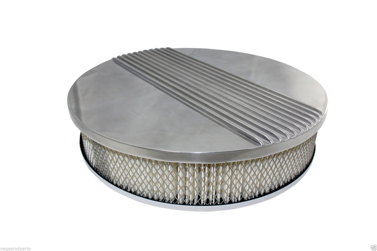 Chevy Ford Mopar 14quot Round Polished Aluminum Air Cleaner