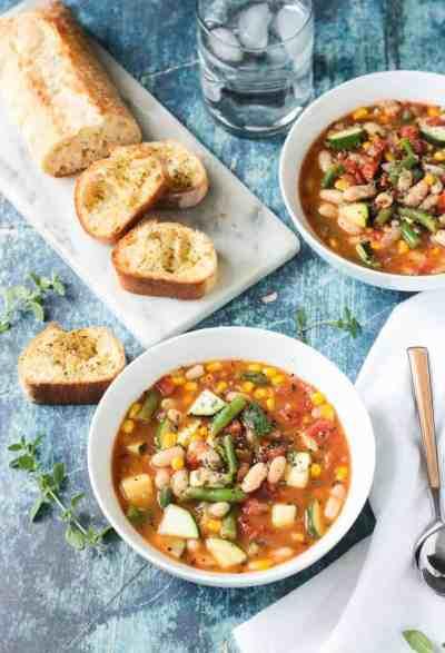 Summer Stew (Vegetable & White Bean Soup Recipe) ~ Veggie Inspired