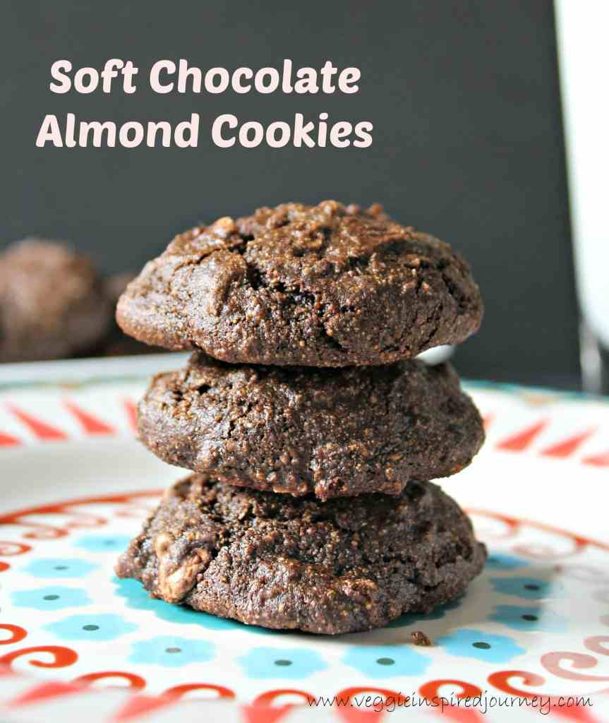 Soft Chocolate Almond Cookies ~ Veggie Inspired