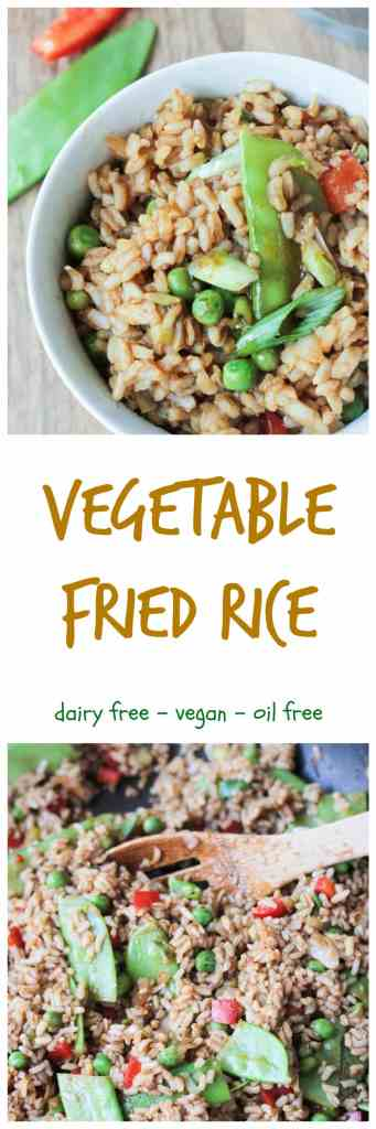 Easy Vegetable Fried Rice in less than 30 minutes! The perfect weeknight dinner and so delicious!