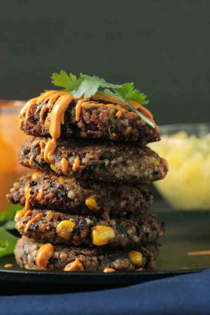 Millet Black Bean Patties
