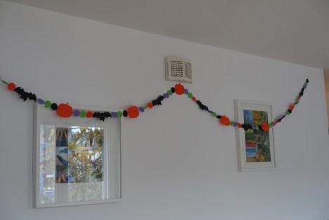 Halloween paper garland