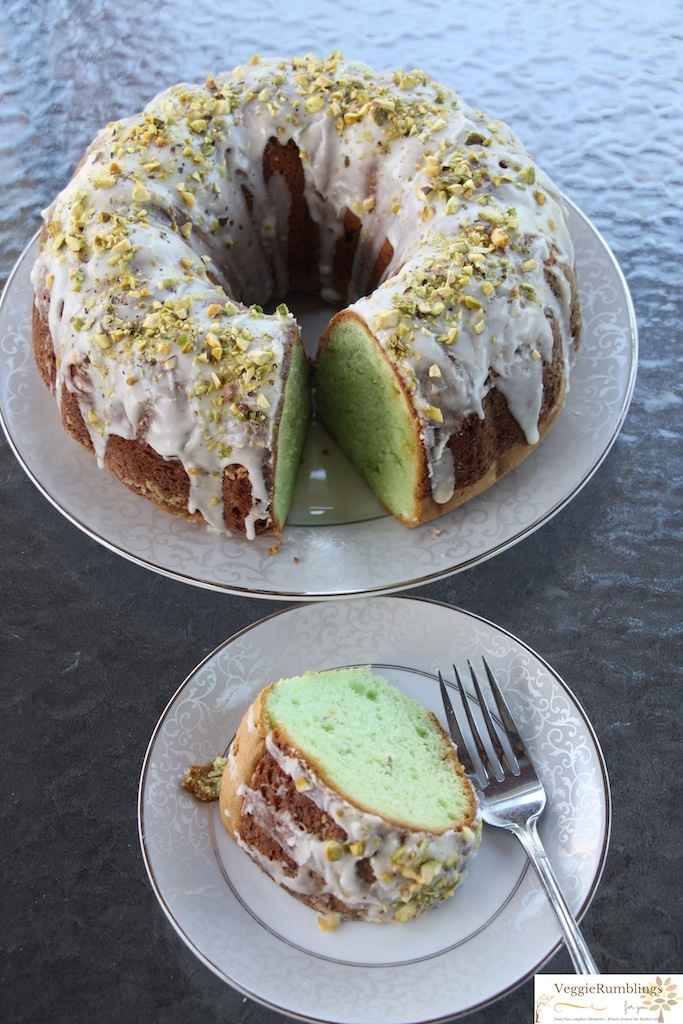 Pistachio Pudding Bundt Cake with White Chocolate Chips - Moist, Tender, Fabulous!