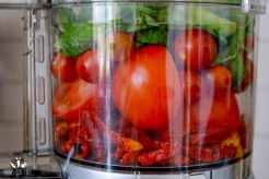 Raw uncooked tomato marinara