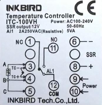 PID Inkbird ITC-100VH wiring usage overview