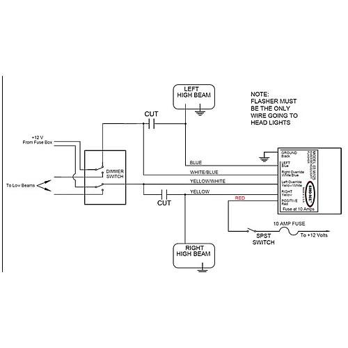 SHO-ME 02 Series Alternating Headlight Flasher 03W125