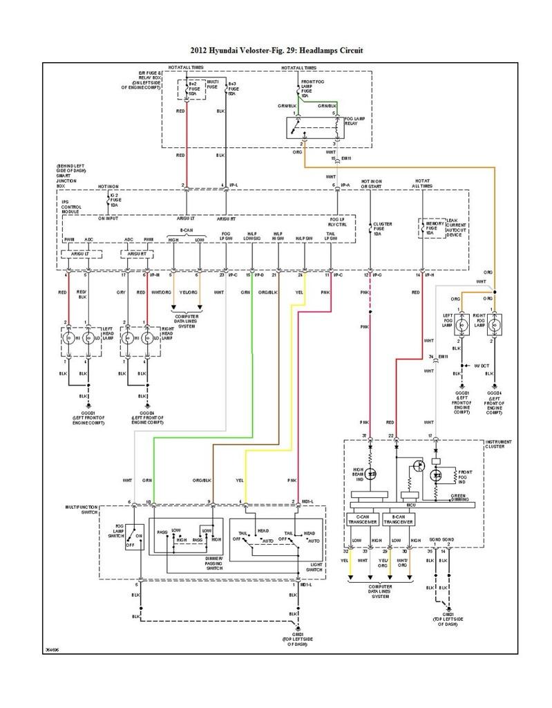 hyundai accent headlight wiring diagram
