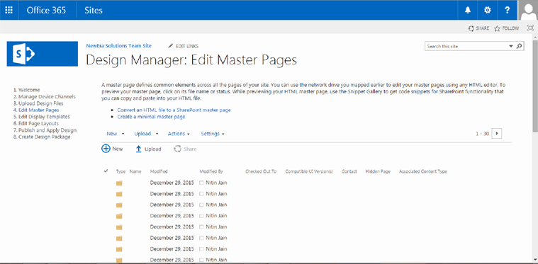 Microsoft SharePoint 2013- A step towards Minimal Master Pages