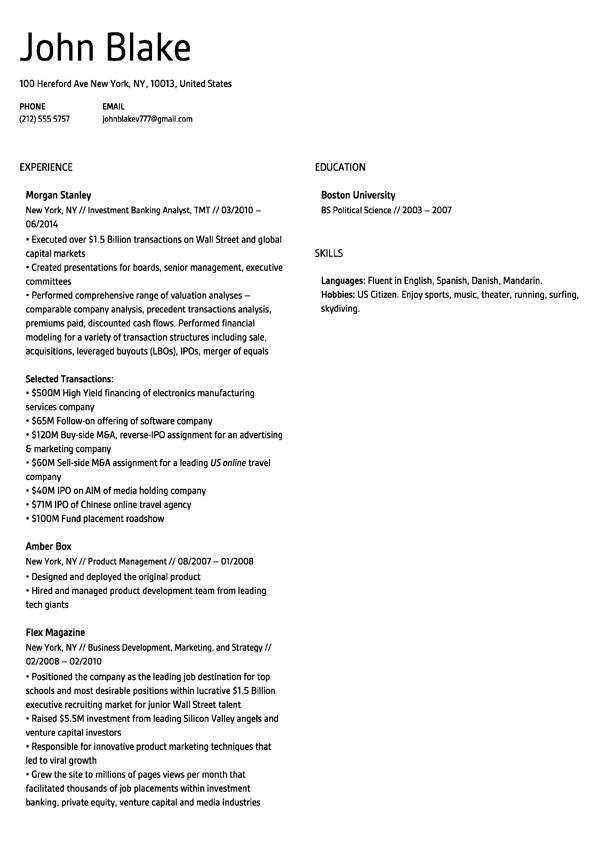 best free online resume templates