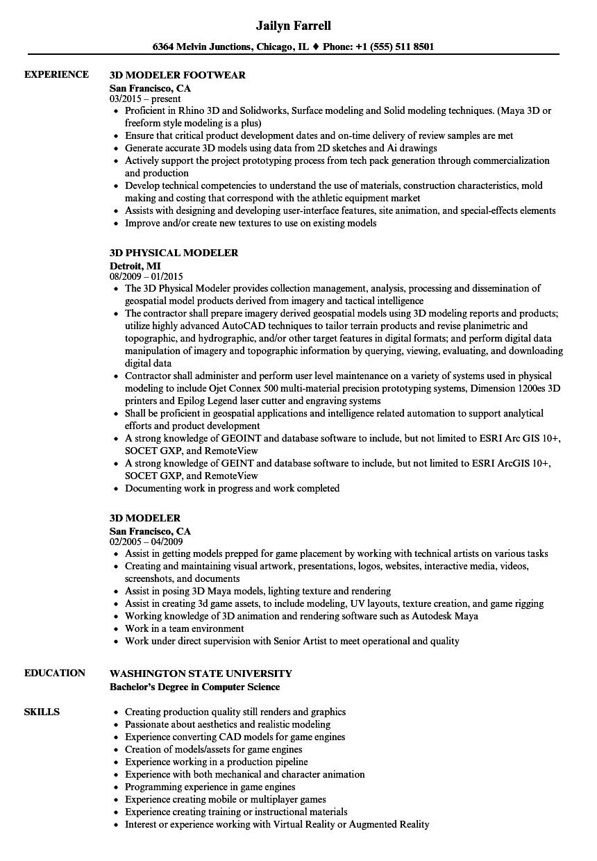 resume reel examples