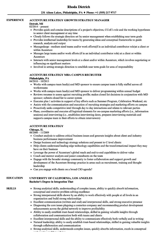 accenture resume example