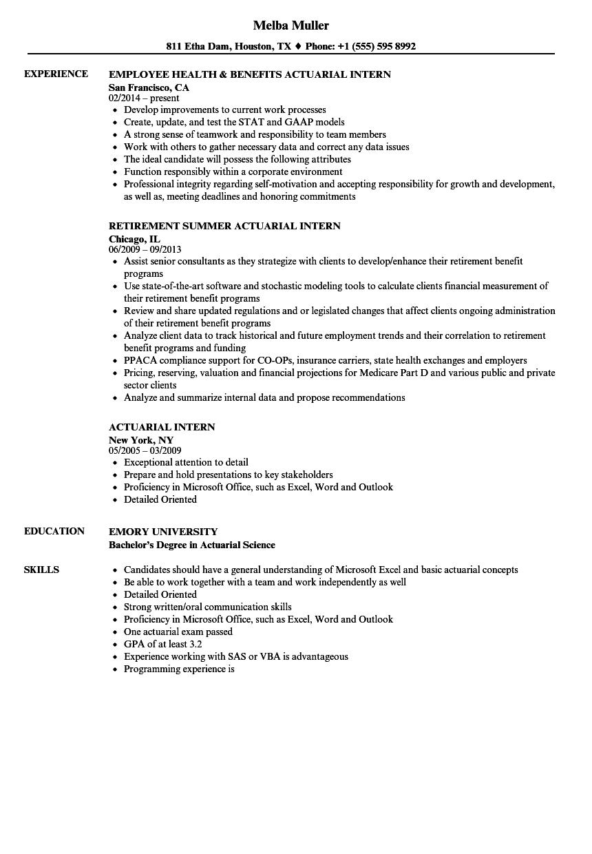 resume for internship samples student