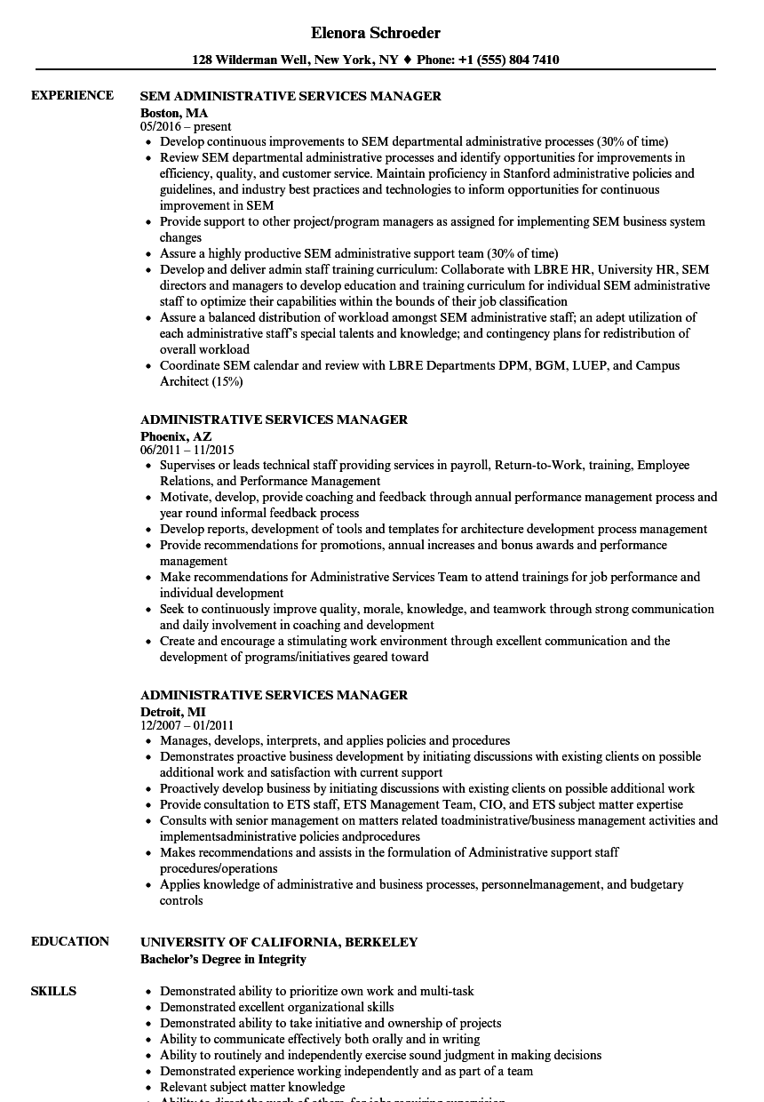 service support manager sample resume