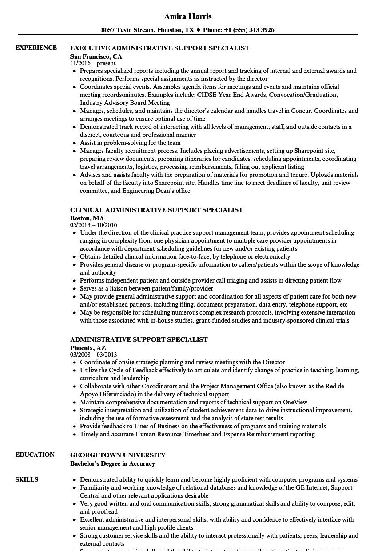 medical administrative specialist resume sample
