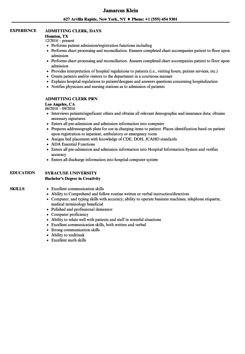 help typing a resume